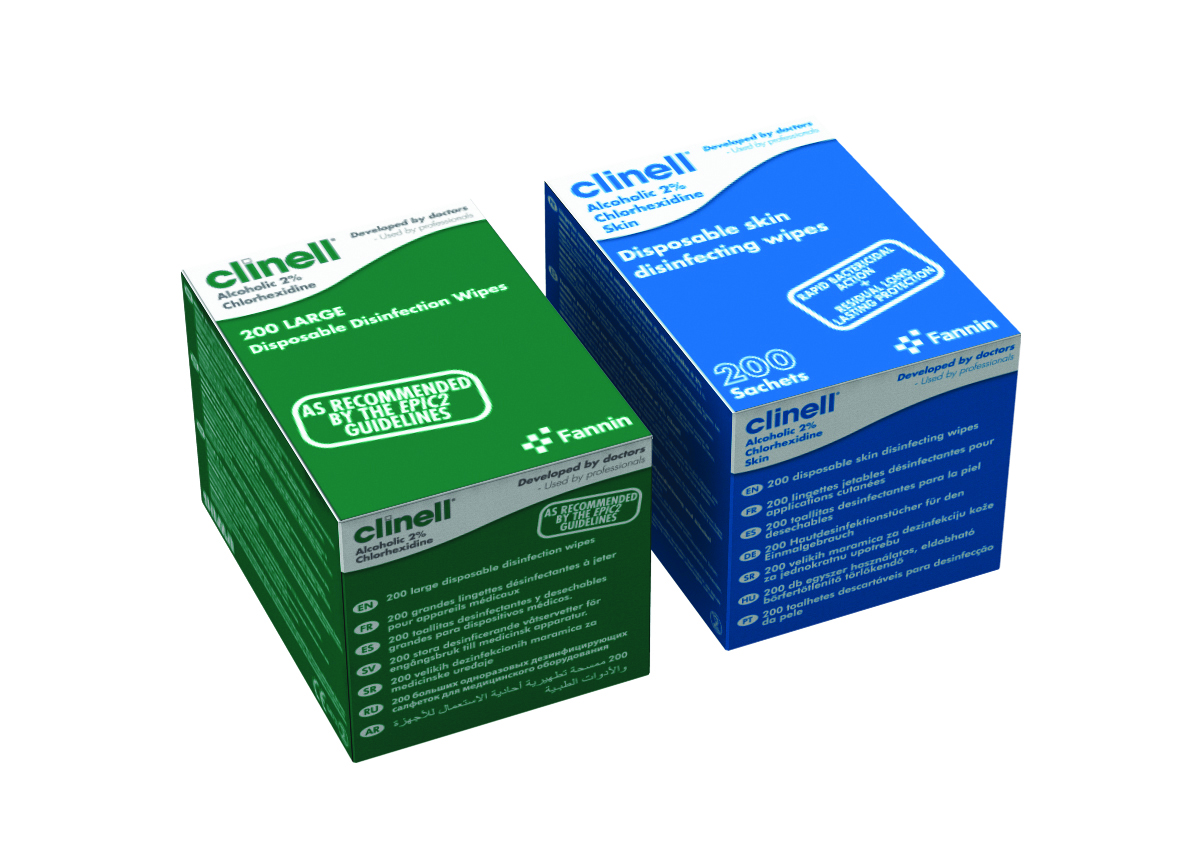 Clinell Alcoholic 2% Chlorhexidine Device Wipes image