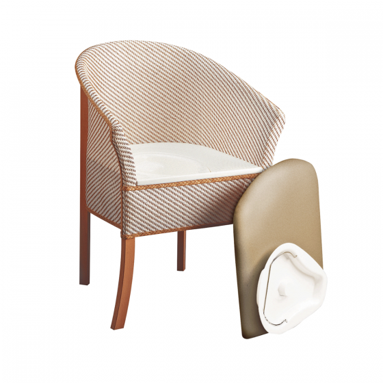 Basket Weave Commode Chair image