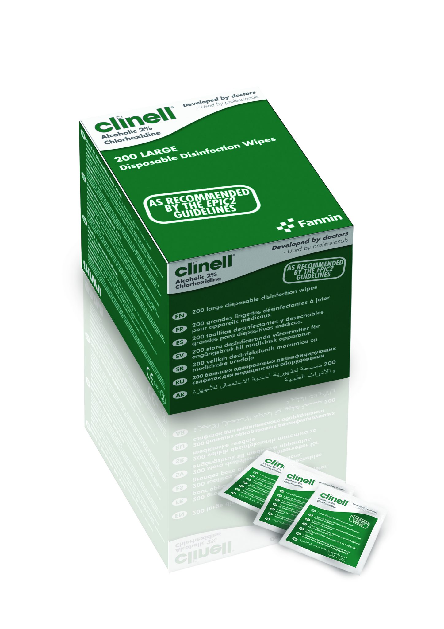 Clinell Alcoholic 2% Chlorhexidine Device Wipes image cover