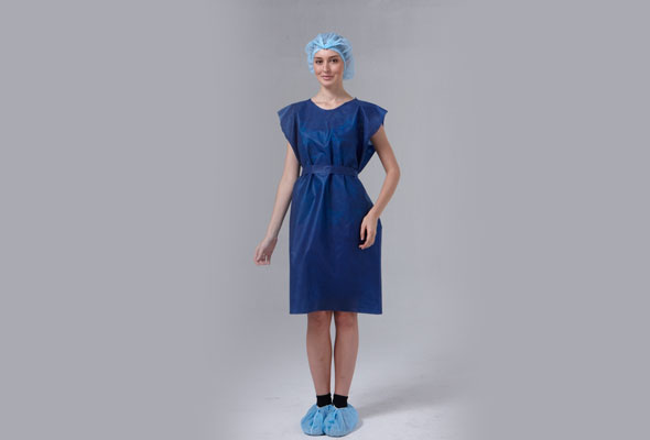 Caressential Sleevless Patient Gown image