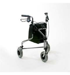 Chrome Plated Steel Tri Wheeled Walker with Loop Brakes image cover