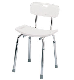 Deluxe Shower Stool with Backrest image