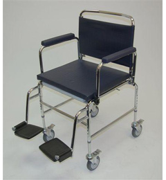 Heavy Duty Deluxe Chrome Plated Steel Commode Chair image