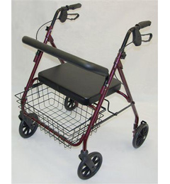 Heavy Duty 4 Wheeled Steel Bariatric Safety Walker with rest seat image cover