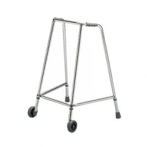 Hospital Style Adjustable Height wheeled Walking Aid image cover