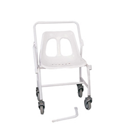 Mobile Shower Chair with detatchable/ fixed arms image cover