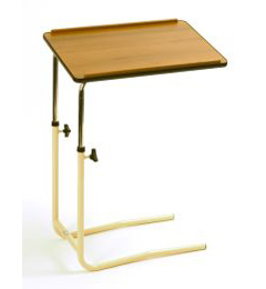 Overbed Table with Split Legs and Wooden Top image cover