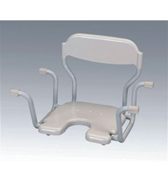 Standard Bath Seat With Back White image