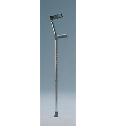 Standard Single Adjustable Elbow Crutches with standard grip image cover