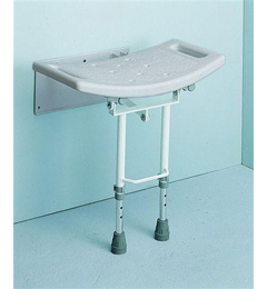 Wall Mounted Shower Seat with drop down Legs image cover