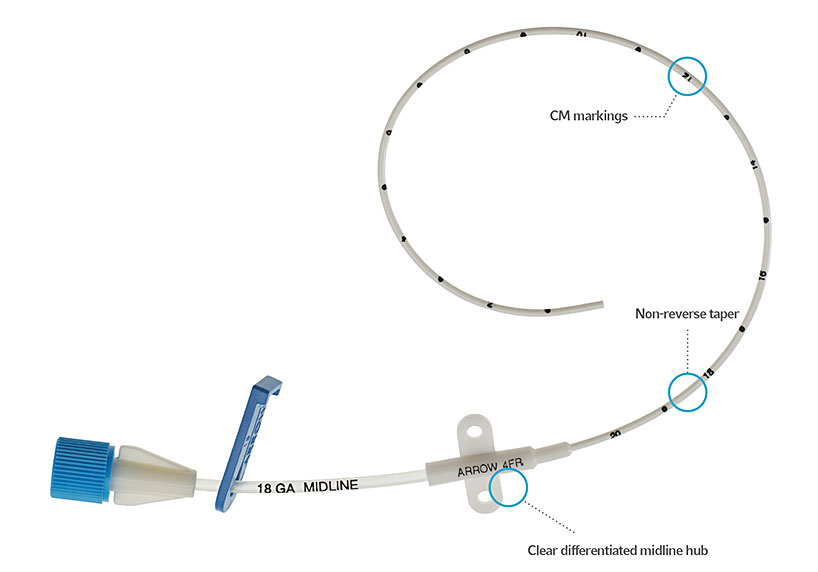 ARROW® Midline Catheter Kits and Peripheral Catheters image