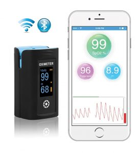 Amsino Bluetooth Digital Fingertip Pulse Oximeter image cover